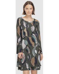 Escolá - Khaki Printed Dress - Lyst