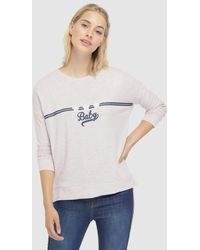 Green Coast - Knitted Sweatshirt With Flock Print - Lyst