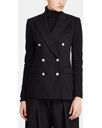 Polo Ralph Lauren - Black Double-breasted Jacket - Lyst