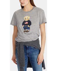 Polo Ralph Lauren - Short Sleeve Bear Print T-shirt - Lyst
