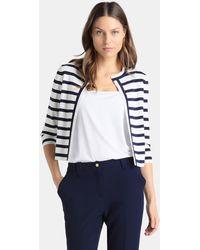 Yera - Striped Knit Bolero - Lyst