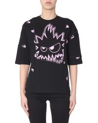 McQ - T-SHIRT ERGONOMIC IN COTONE CON STAMPA SWALLOW MONSTER - Lyst