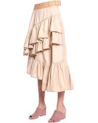"3.1 Phillip Lim - ""flamenco"" Ruffled Cotton Skirt - Lyst"