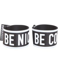"DSquared² - Bracciale Doppio ""be Cool Be Nice"" - Lyst"