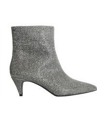 MICHAEL Michael Kors - Blaine Flex Kitten Glitter Ankle Boots - Lyst