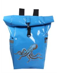 """PS by Paul Smith - """"octopus"""" Print Roll-top Backpack - Lyst"""