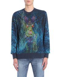 Etro - Round Collar Cotton Sweatshirt With Alchemical Frog Print - Lyst