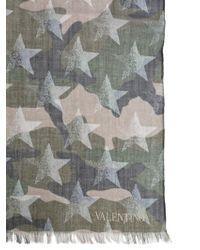 Valentino - Camustars Print Cashmere And Silk Foulard - Lyst