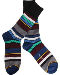 Paul Smith - Eden Jacquard Cotton Blend Socks - Lyst
