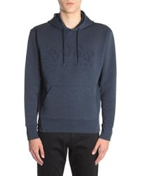 """BOSS Athleisure - Hooded """"sly"""" Stretch Cotton Sweatshirt With Embossed Logo - Lyst"""