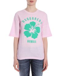 DSquared² - T-shirt Girocollo In Cotone - Lyst
