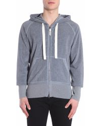 Tom Ford - Hooded Cotton Toweling Sweatshirt With Zip - Lyst