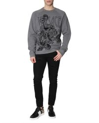 Versace - Cotton Crew Neck Sweatshirt With Circus Logo - Lyst