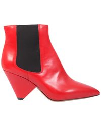 Isabel Marant - Chelsea Lashby Boots In Smooth Leather - Lyst
