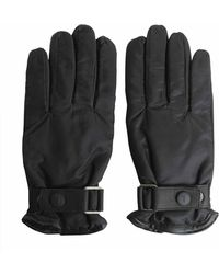 Tru Trussardi - Nappa Gloves And Technical Fabric With Strap - Lyst
