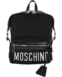 Moschino - Neoprene Backpack With Logo Lettering - Lyst