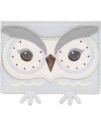 Kate Spade - Owl Leather Card Holder - Lyst