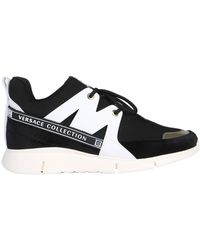 Versace - Black Polyester Trainers - Lyst