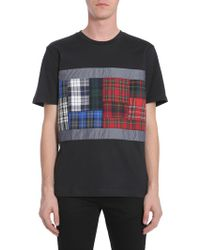 Tommy Hilfiger - T-shirt Girocollo Con Flag Tartan - Lyst