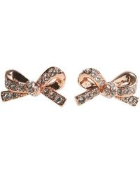 Kate Spade - Bow Earrings With Crystals - Lyst