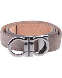 Ferragamo - Reversible Gancini Leather Belt - Lyst