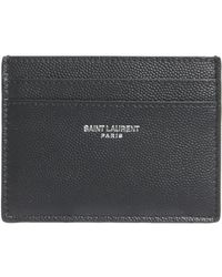 Saint Laurent - Classic Card Holder In Textured Leather - Lyst