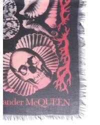 Alexander McQueen - Dream Shell Mixed Wool Foulard - Lyst