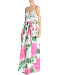 Tory Burch - Nantucket Floral Printed Daniella Organide Skirt - Lyst