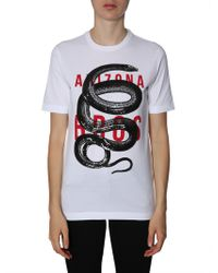 DSquared² - Renny Fit Cotton T-shirt With Embroidered Snake - Lyst
