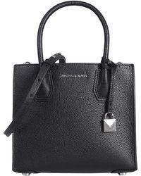 MICHAEL Michael Kors - Medium Mercer Hammered Leather Messenger Bag - Lyst