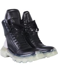 Rick Owens - ANFIBIO TRACTOR IN PELLE - Lyst