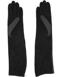 Lanvin - Bi Material Long Gloves - Lyst