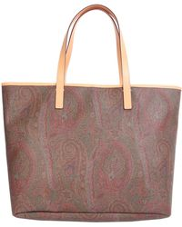 Etro - Paisley Shopping Bag With Leather Inserts - Lyst