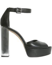 MICHAEL Michael Kors - Paloma Sandals With Mirrored Heel - Lyst