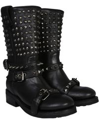 Ash - Camperos Alto Troop Leather Boots - Lyst