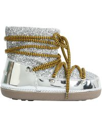 DSquared² - Riri Snow Boots With Metallic Leather And Glitter Insert - Lyst