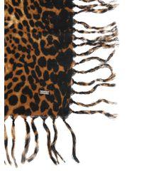 Saint Laurent - Animalier Printed Wool Scarf - Lyst