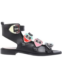 Paula Cademartori - Claude Leather Sandals - Lyst