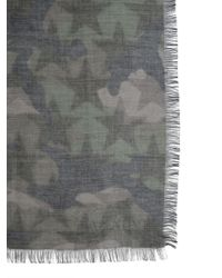Valentino - Silk Blend Camustars Print Foulard - Lyst