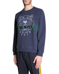 KENZO - Cotton Sweatshirt With Embroidered Tiger - Lyst