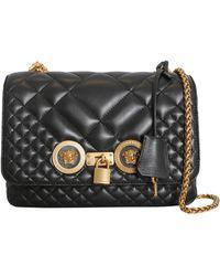 39e0168ad3e3 Lyst - Versace Black Quilted Vanitas Shoulder Bag in Black