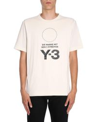 Y-3 - Overesize Fit T-shirt With Stacked Logo - Lyst
