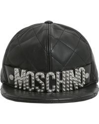 Moschino - Quilted Cap With Logo Lettering - Lyst