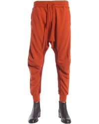Haider Ackermann - Cotton Jogging Trousers With Biker Details - Lyst