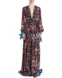 Etro - Paisley Printed Long Silk Dress - Lyst