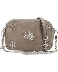 Rebecca Minkoff - Camera Bag Small In Suede Con Borchie - Lyst