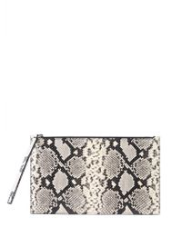 865e59a7b63326 Alexander McQueen - Python Effect Leather Pouch With Wrist Lace - Lyst