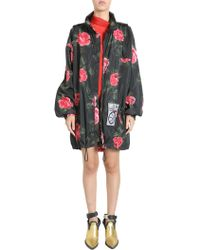 Maison Margiela - Rose Printed Parka With Logo Patch - Lyst