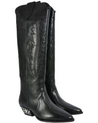 Étoile Isabel Marant - Dinzi Leather Boots - Lyst