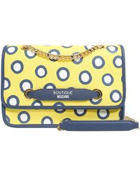 Boutique Moschino - Polka Dots Saffiano Leather Bag - Lyst